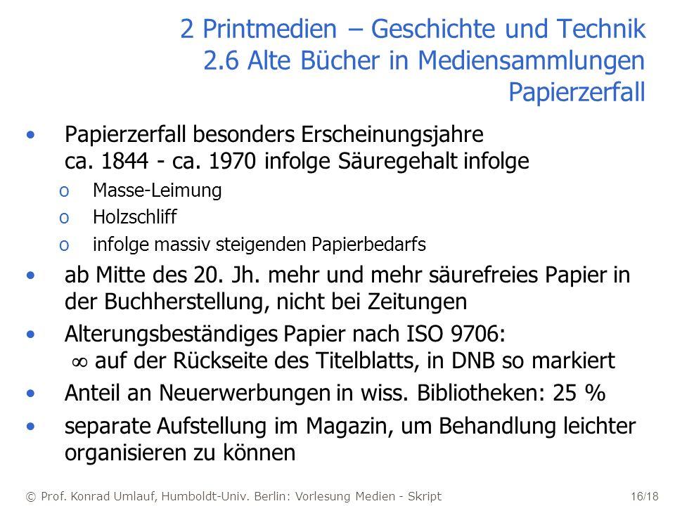 2 Printmedien – Geschichte und Technik 2