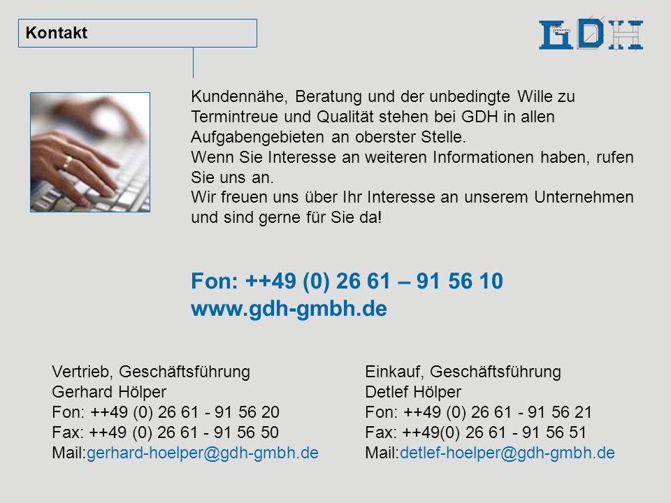 Fon: ++49 (0) 26 61 – 91 56 10 www.gdh-gmbh.de Kontakt