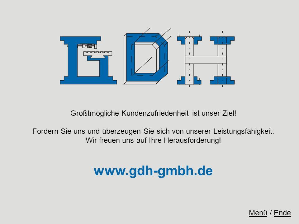 www.gdh-gmbh.de Größtmögliche Kundenzufriedenheit ist unser Ziel!