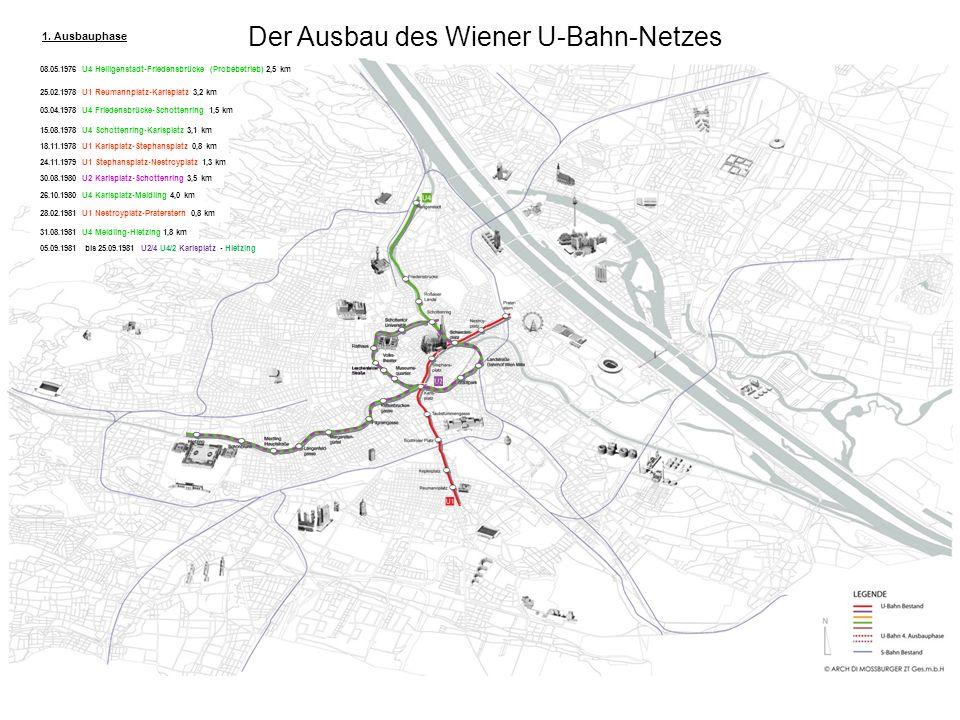 Der Ausbau des Wiener U-Bahn-Netzes