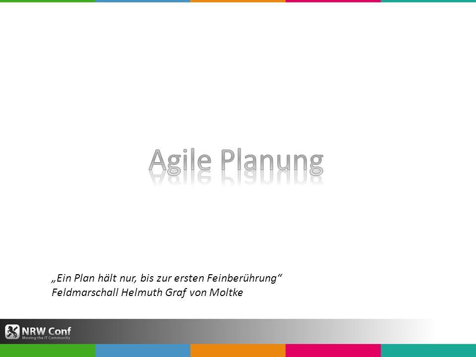 """Agile Planung """"Ein Plan hält nur, bis zur ersten Feinberührung"""