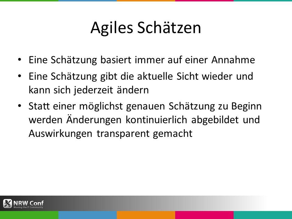 Agiles Schätzen Eine Schätzung basiert immer auf einer Annahme