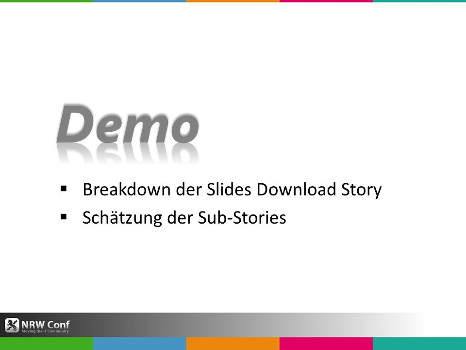 Breakdown der Slides Download Story