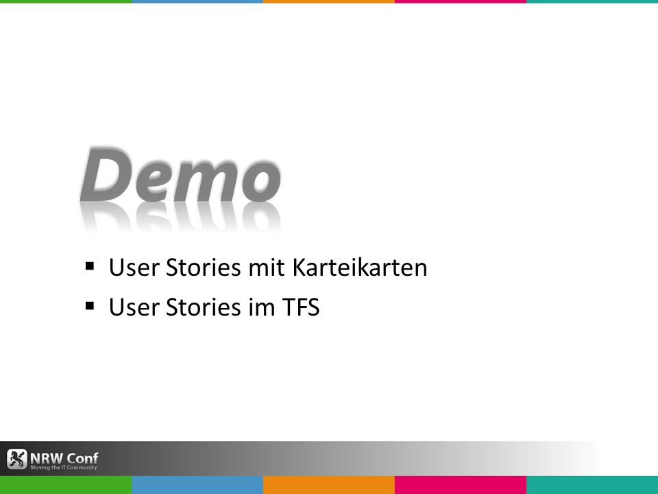 User Stories mit Karteikarten User Stories im TFS