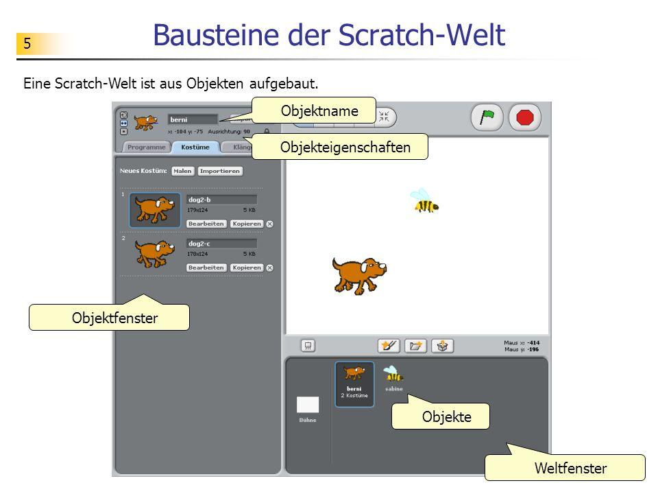 Bausteine der Scratch-Welt