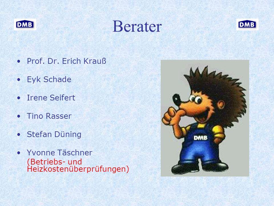 Berater Prof. Dr. Erich Krauß Eyk Schade Irene Seifert Tino Rasser