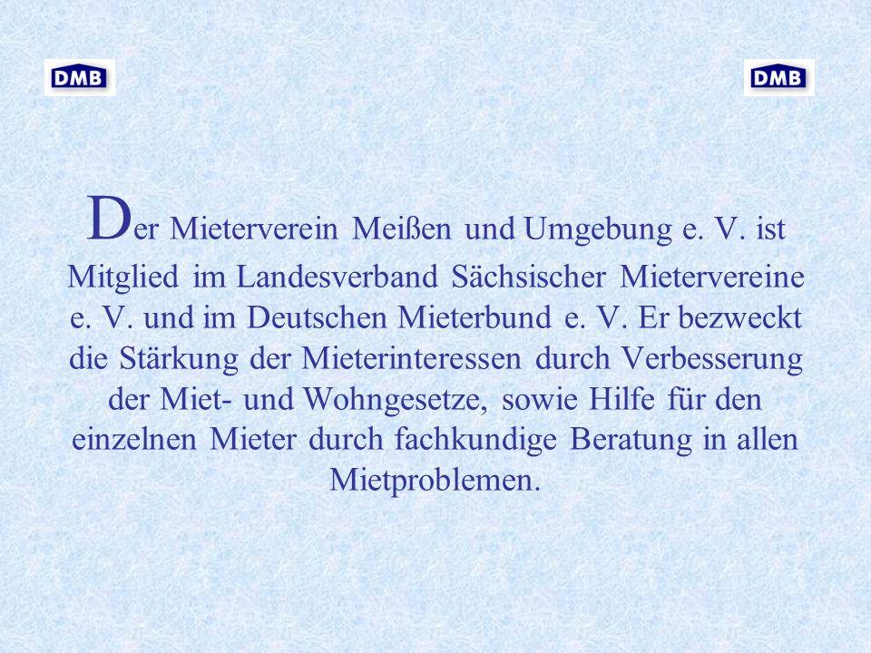Der Mieterverein Meißen und Umgebung e. V