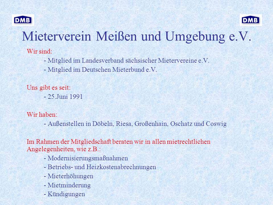 Mieterverein Meißen und Umgebung e.V.