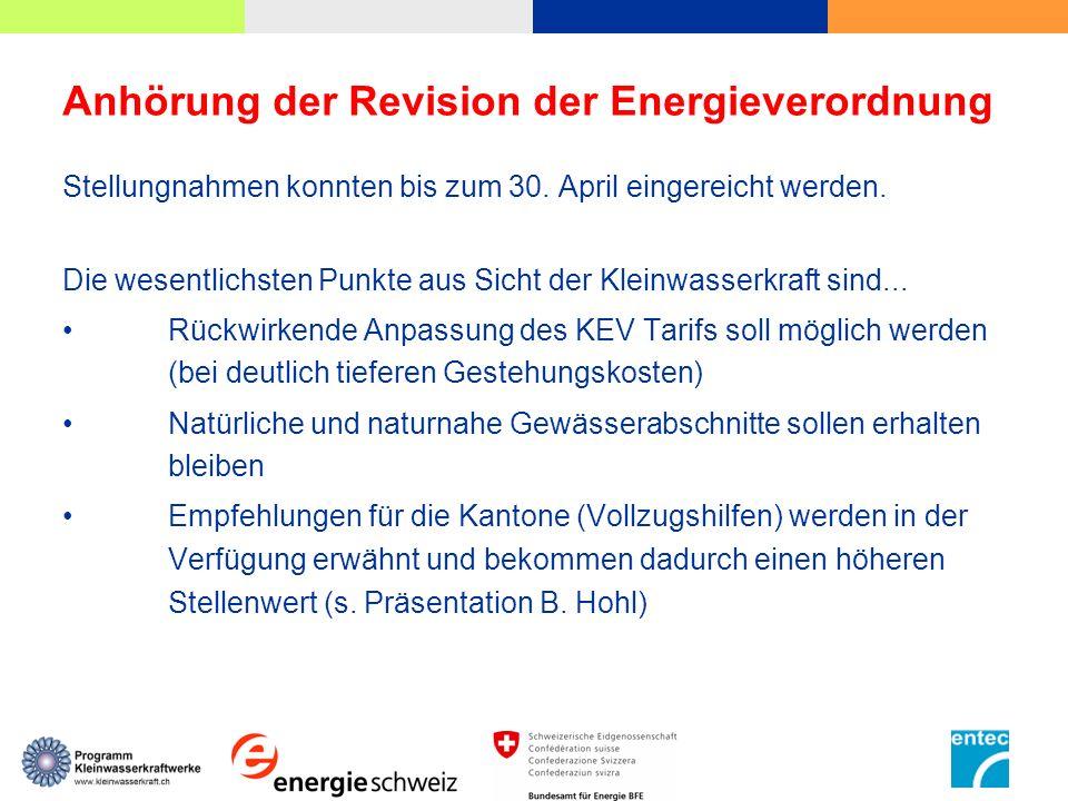 Anhörung der Revision der Energieverordnung