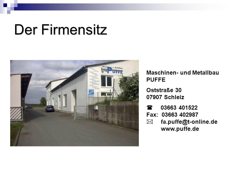 Der Firmensitz Maschinen- und Metallbau PUFFE