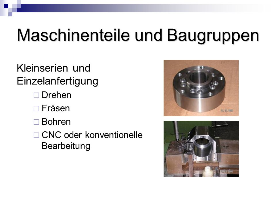 Maschinenteile und Baugruppen
