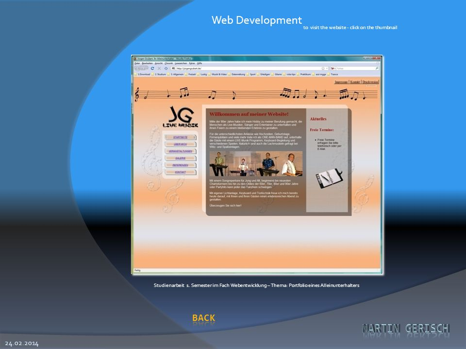 Web Development to visit the website - click on the thumbnail.