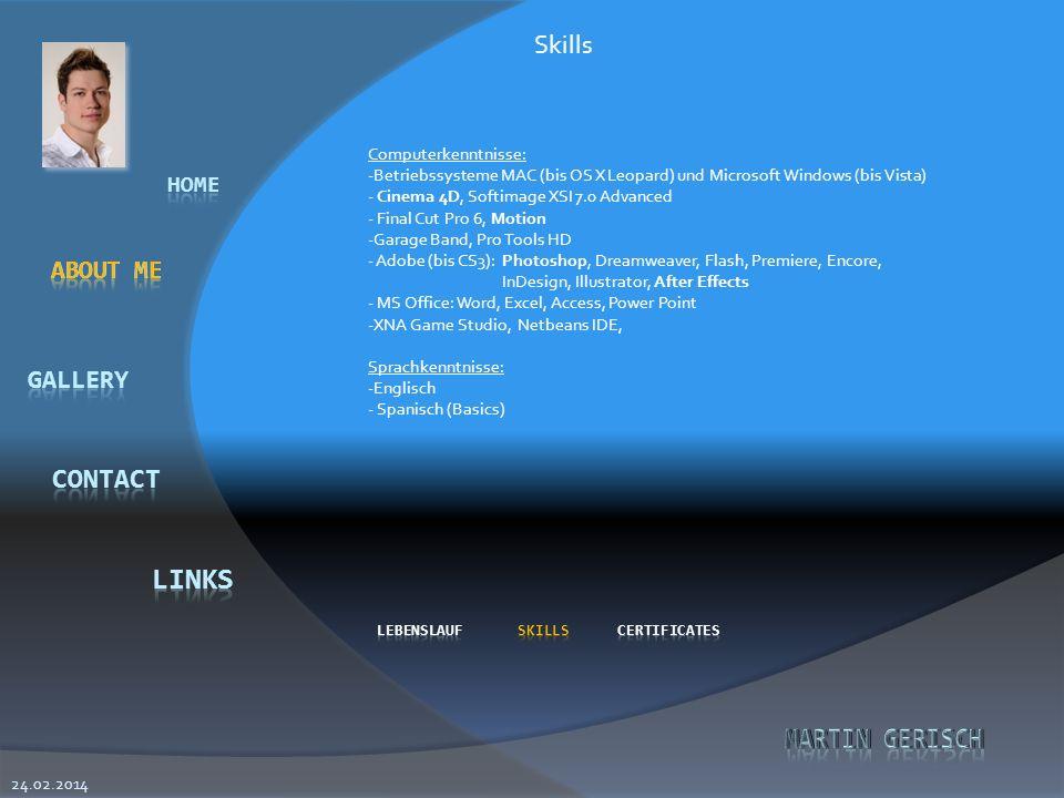 Skills About Me Computerkenntnisse: