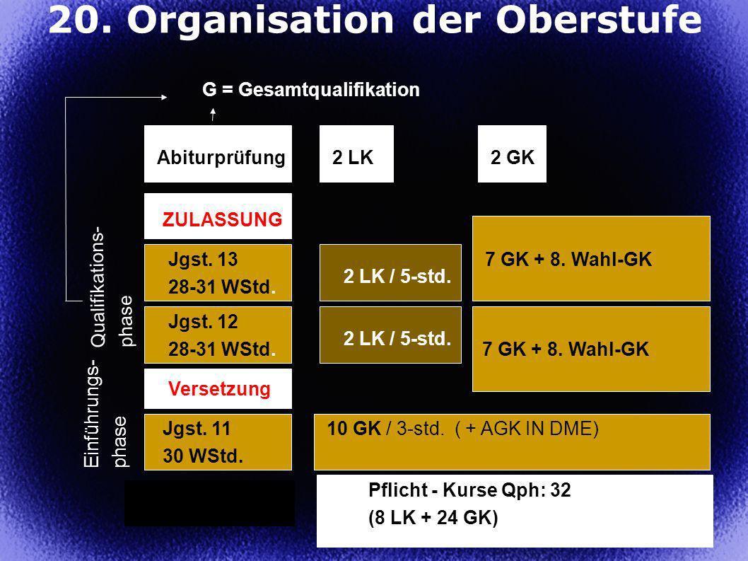 20. Organisation der Oberstufe