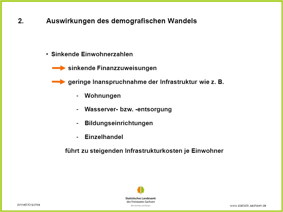 2. Auswirkungen des demografischen Wandels