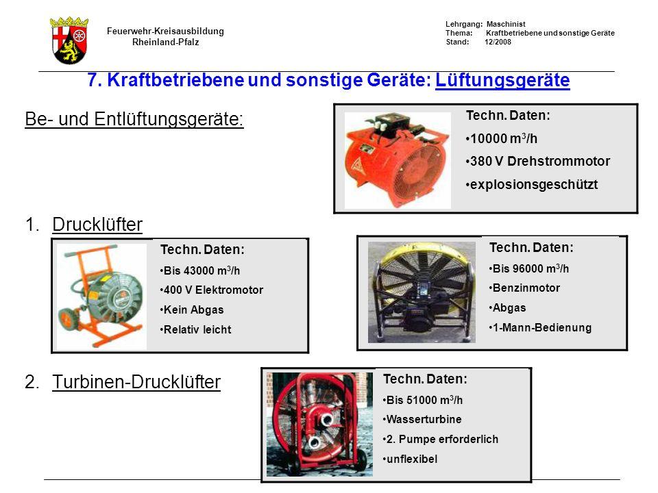 7. Kraftbetriebene und sonstige Geräte: Lüftungsgeräte