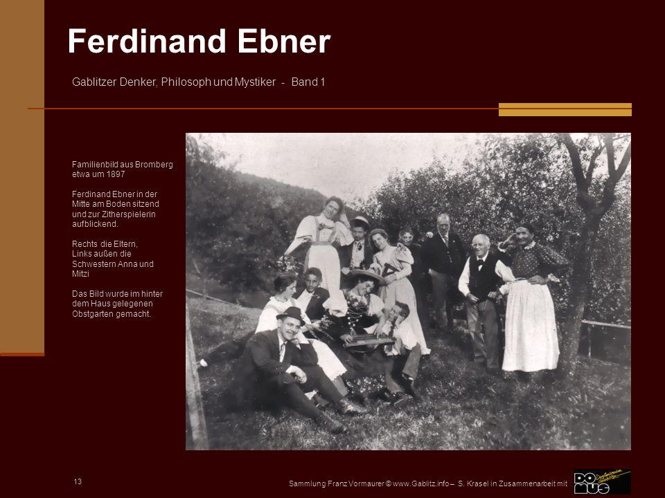 Familienbild aus Bromberg etwa um 1897 Ferdinand Ebner in der