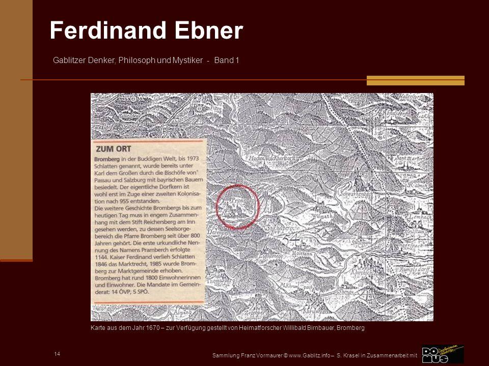 Karte aus dem Jahr 1670 – zur Verfügung gestellt von Heimatforscher Willibald Birnbauer, Bromberg