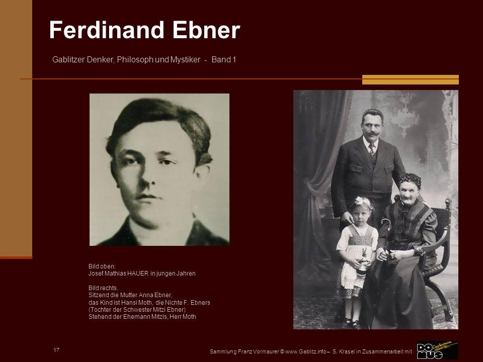 Josef Mathias HAUER in jungen Jahren Bild rechts.