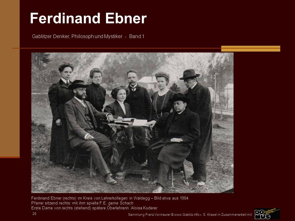 Pfarrer sitzend rechts: mit ihm spielte F.E. gerne Schach