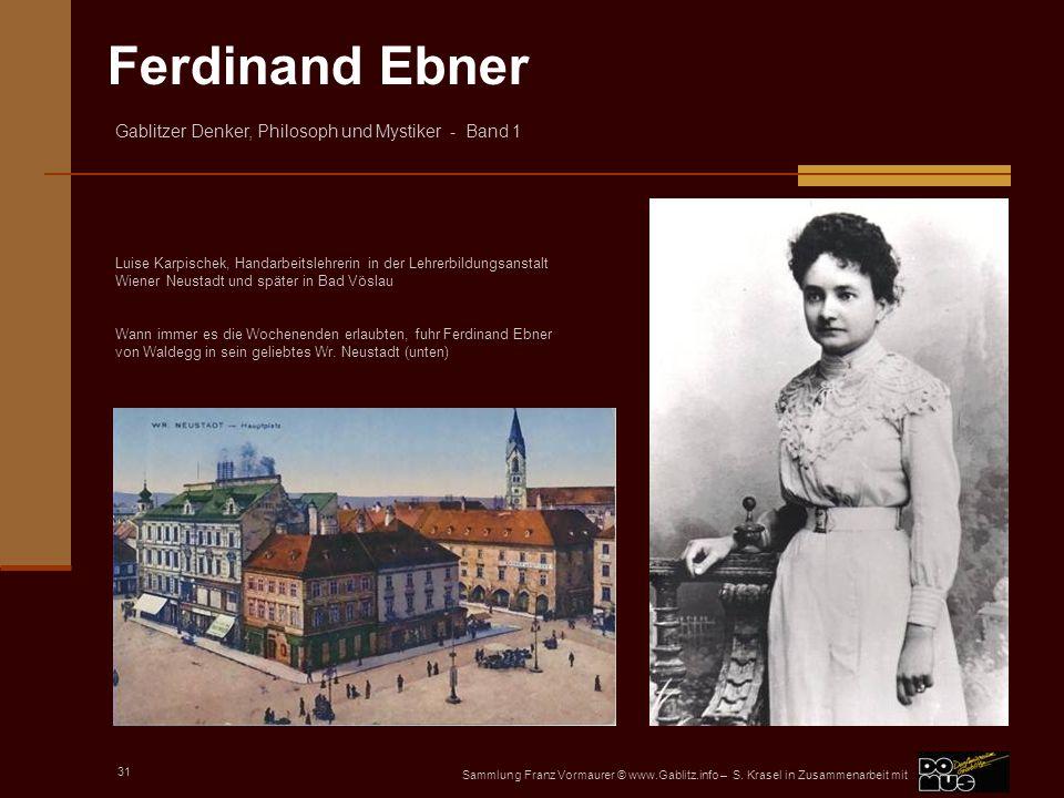 Luise Karpischek, Handarbeitslehrerin in der Lehrerbildungsanstalt