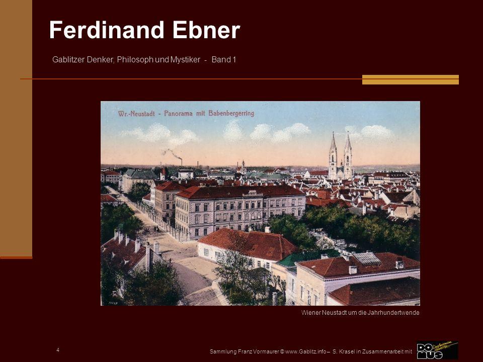 Wiener Neustadt um die Jahrhundertwende