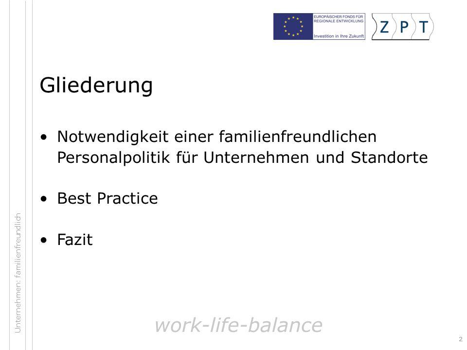 Gliederung work-life-balance