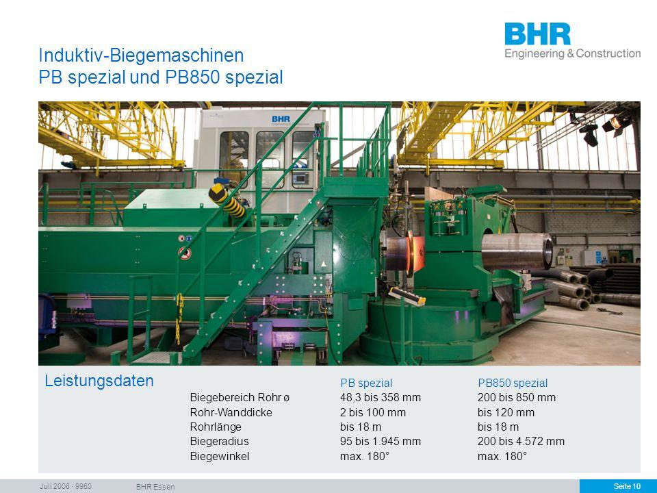 Induktiv-Biegemaschinen PB spezial und PB850 spezial