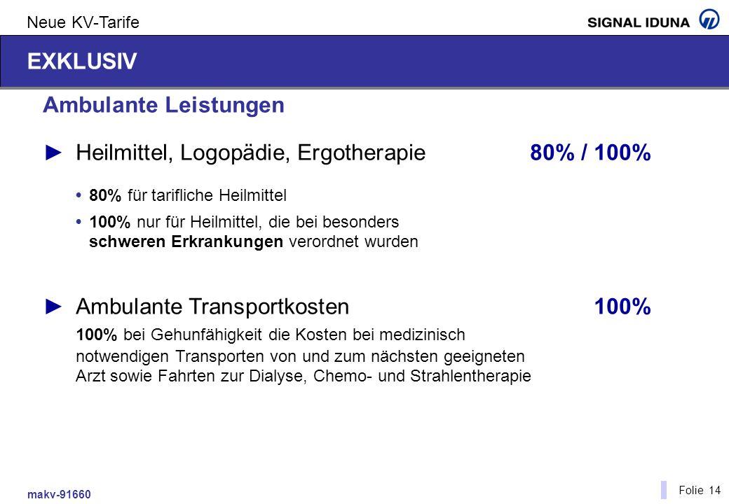 ► Heilmittel, Logopädie, Ergotherapie 80% / 100%