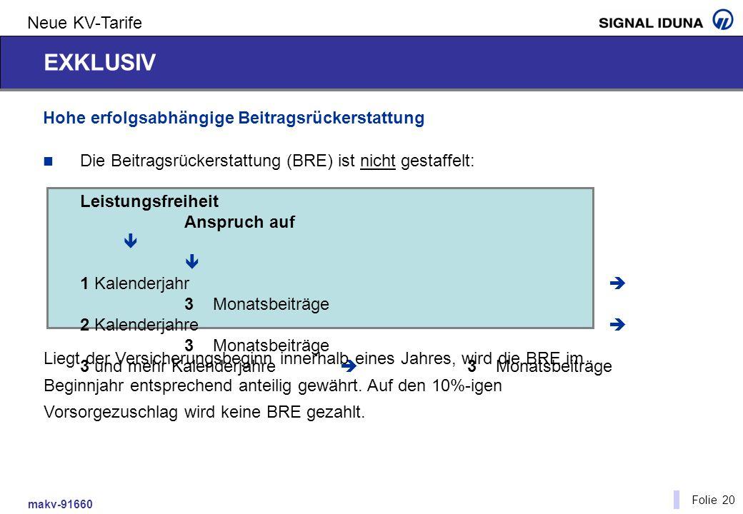 EXKLUSIV Neue KV-Tarife Hohe erfolgsabhängige Beitragsrückerstattung