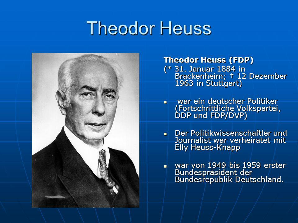 Theodor Heuss Theodor Heuss (FDP)