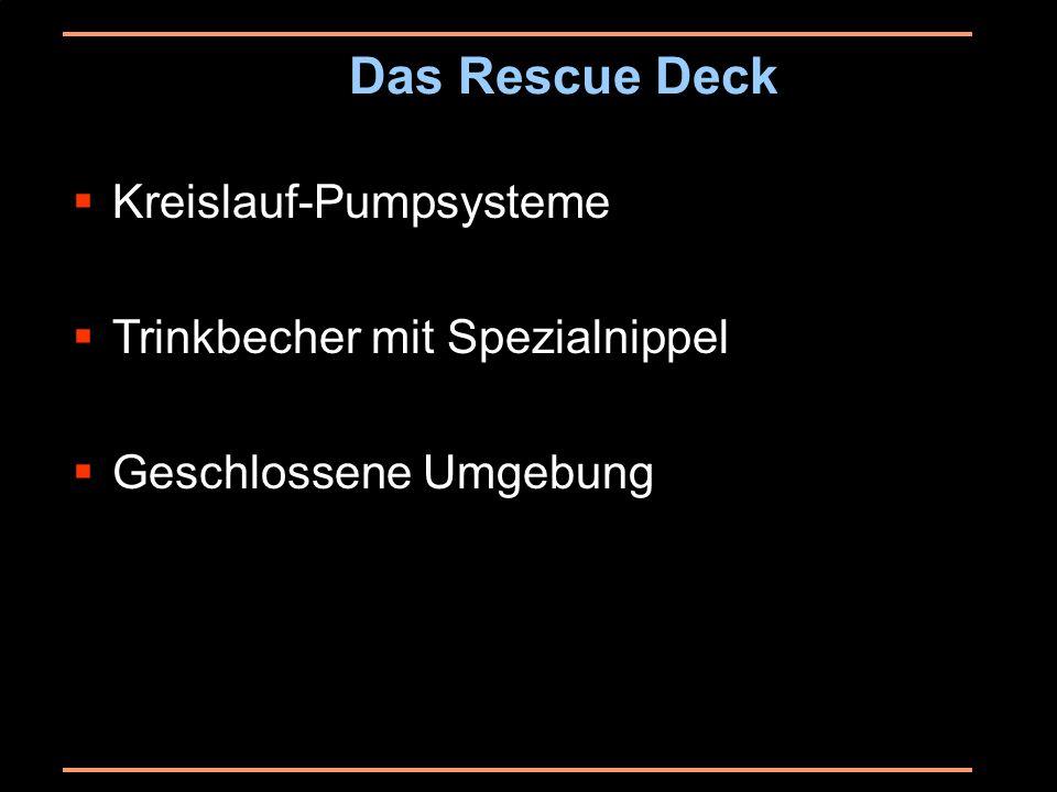 Das Rescue Deck Kreislauf-Pumpsysteme Trinkbecher mit Spezialnippel