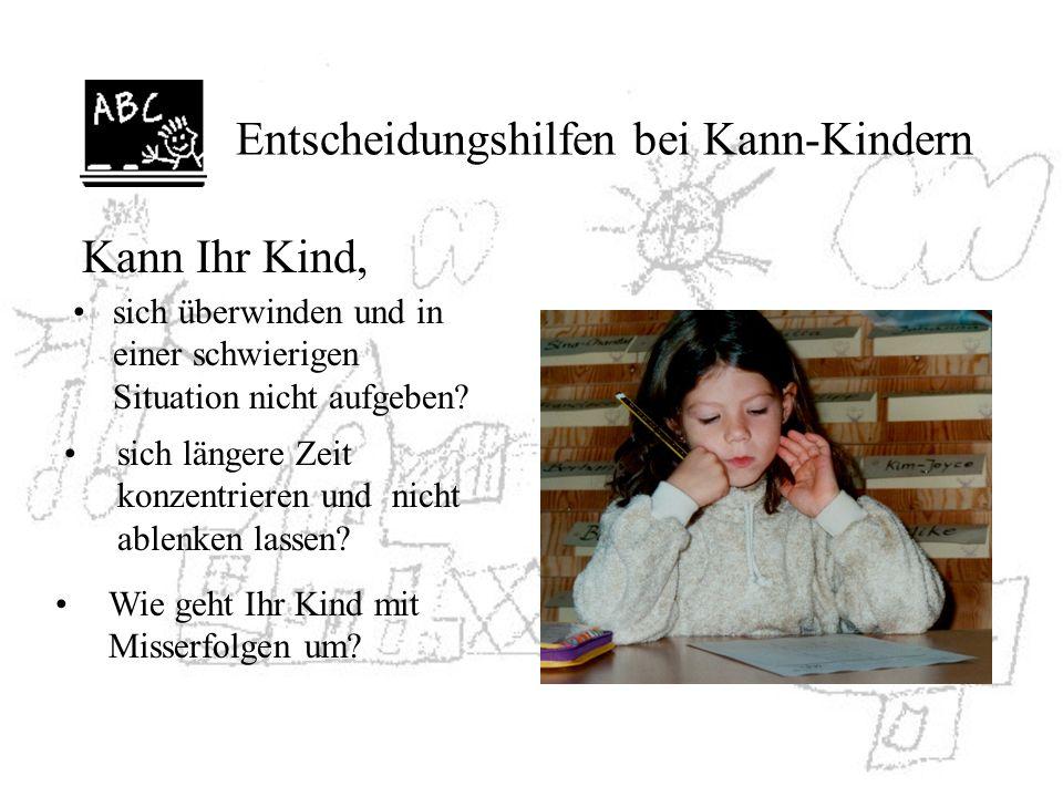 Entscheidungshilfen bei Kann-Kindern