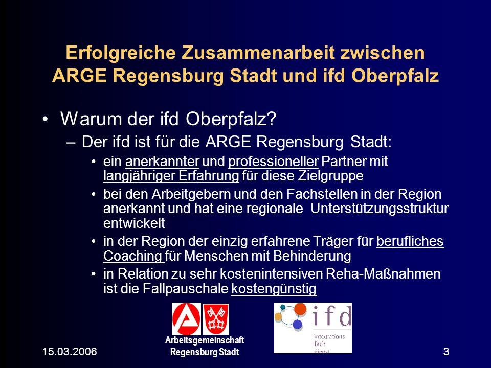 Warum der ifd Oberpfalz