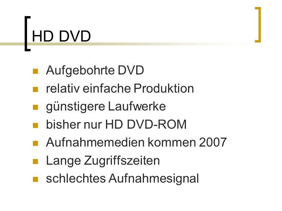 HD DVD Aufgebohrte DVD relativ einfache Produktion