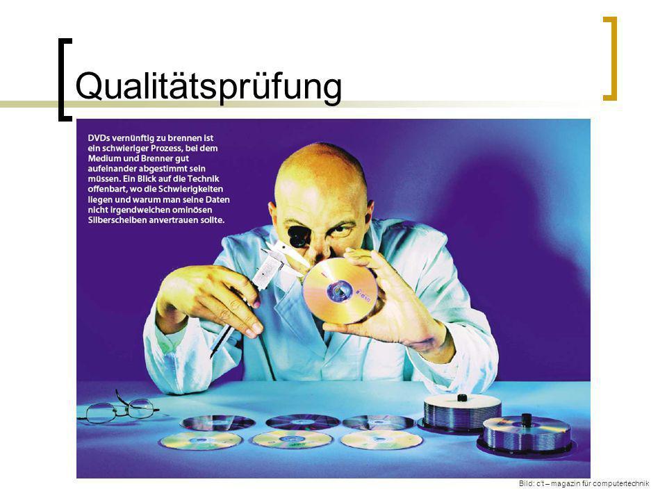Qualitätsprüfung Bild: c't – magazin für computertechnik