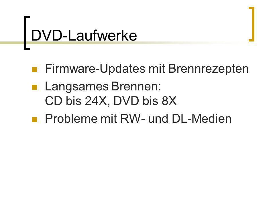 DVD-Laufwerke Firmware-Updates mit Brennrezepten