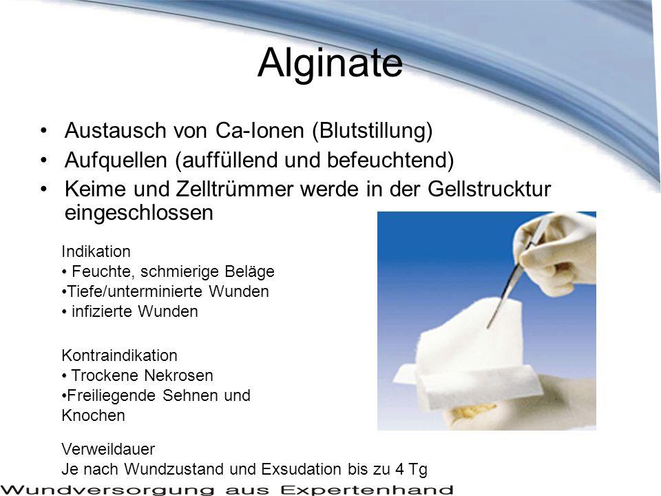 Alginate Austausch von Ca-Ionen (Blutstillung)