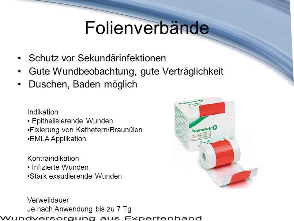 Folienverbände Schutz vor Sekundärinfektionen