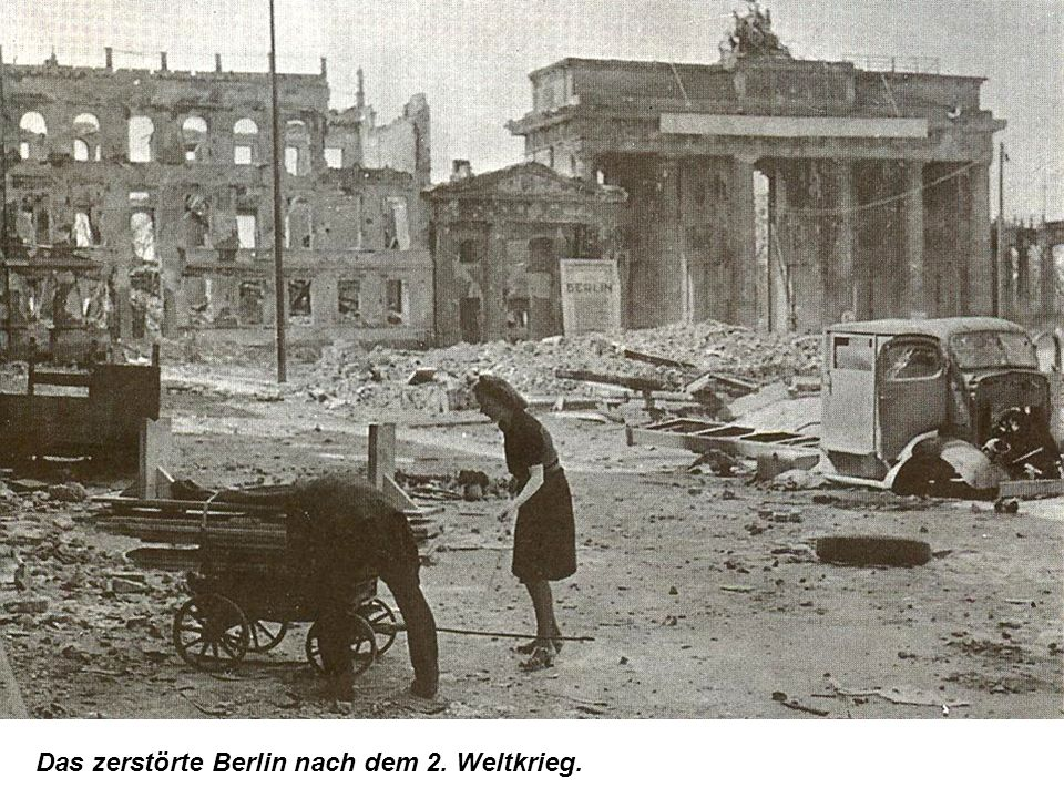 Das zerstörte Berlin nach dem 2. Weltkrieg.