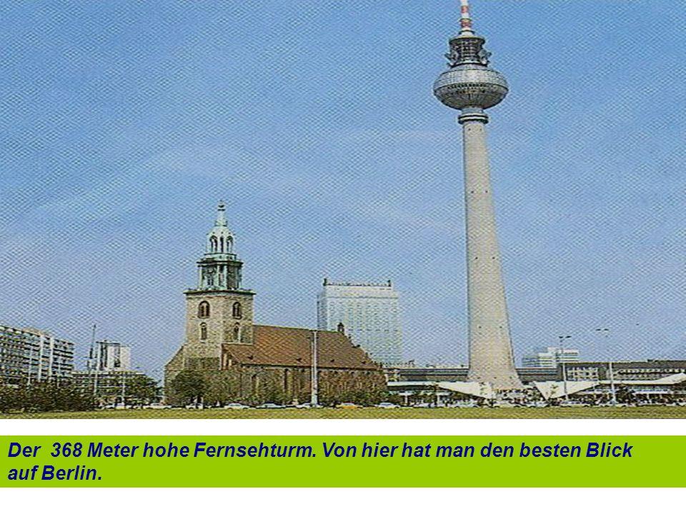 Der 368 Meter hohe Fernsehturm. Von hier hat man den besten Blick