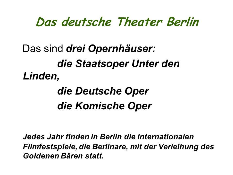 Das deutsche Theater Berlin