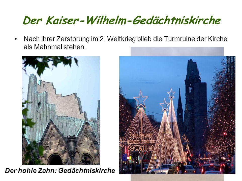 Der Kaiser-Wilhelm-Gedächtniskirche