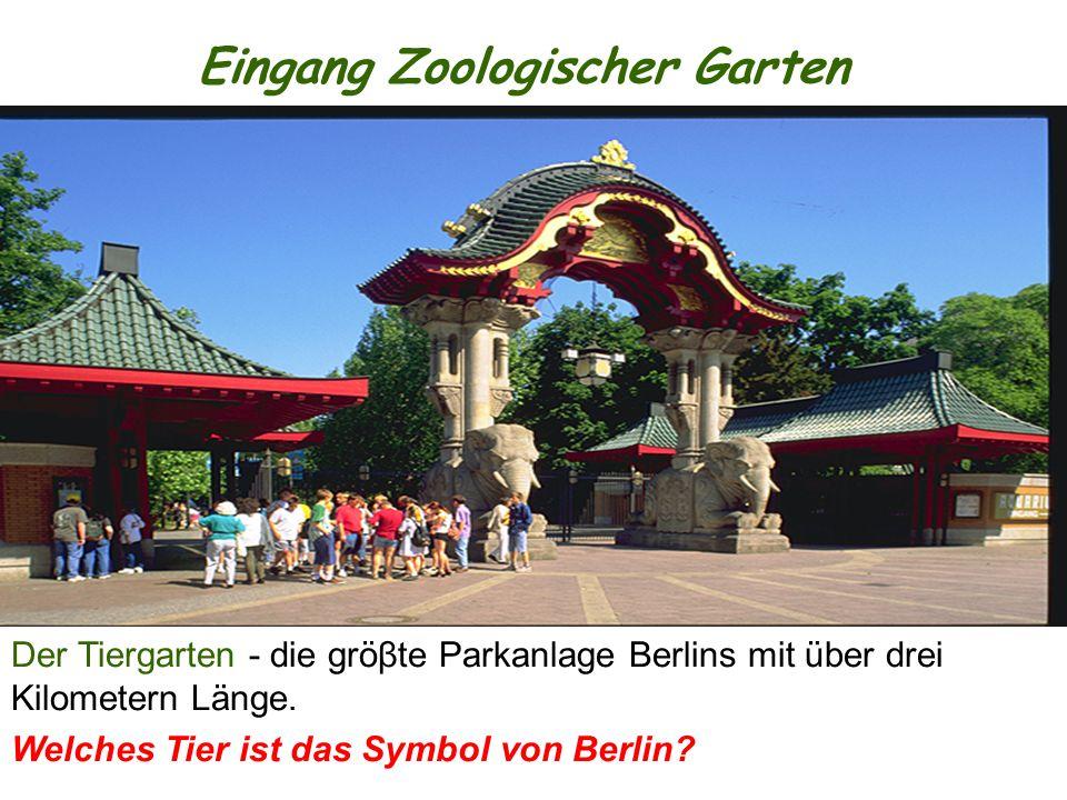 Eingang Zoologischer Garten