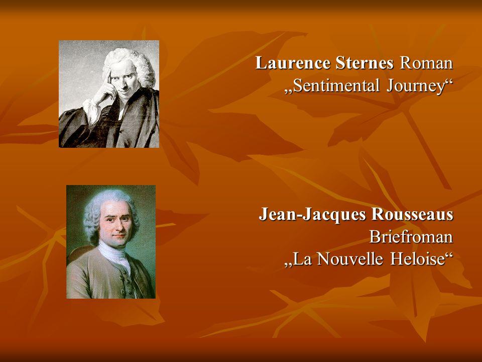 """Laurence Sternes Roman """"Sentimental Journey Jean-Jacques Rousseaus Briefroman """"La Nouvelle Heloise"""