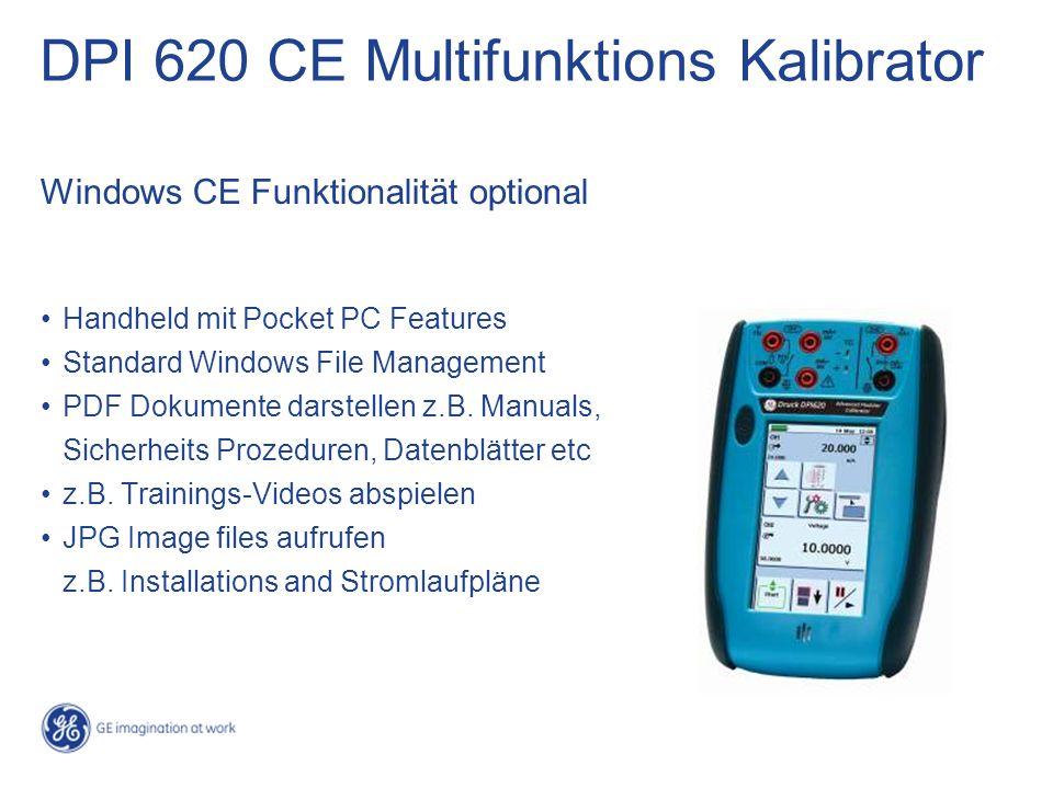 DPI 620 CE Multifunktions Kalibrator