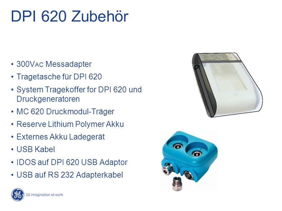 DPI 620 Zubehör 300VAC Messadapter Tragetasche für DPI 620