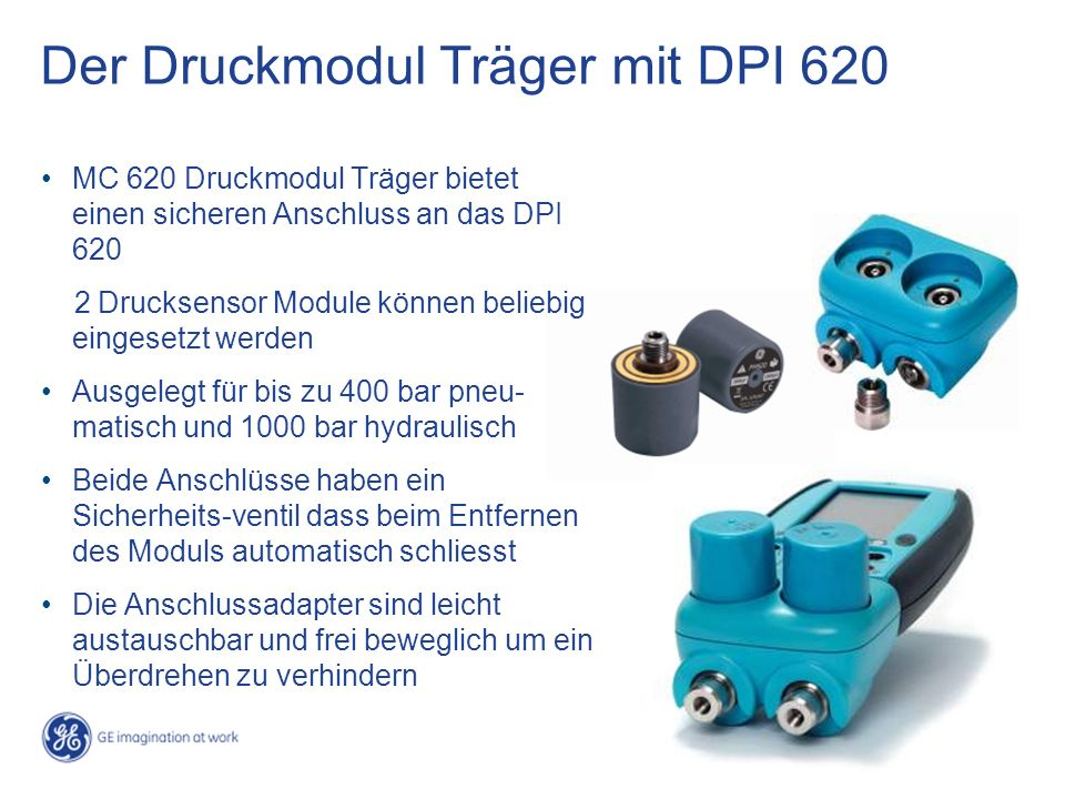 Der Druckmodul Träger mit DPI 620