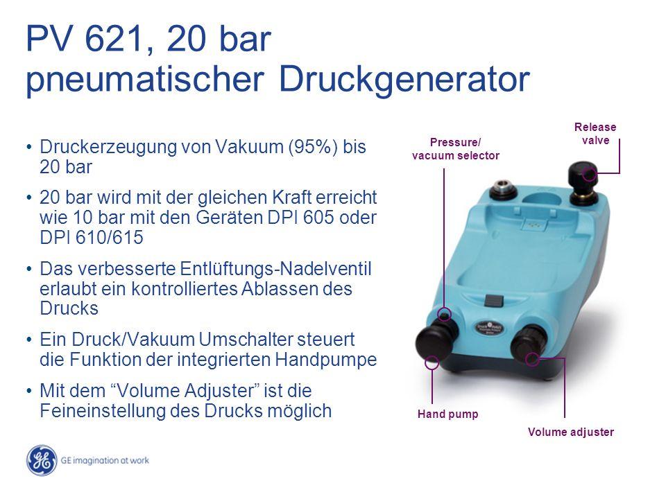 PV 621, 20 bar pneumatischer Druckgenerator