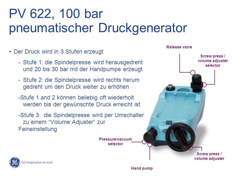 PV 622, 100 bar pneumatischer Druckgenerator